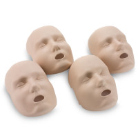 Replacement Faces for Prestan Adult Manikins - 4 Pack - Medium Skin - RPP-AFACE-4-MS