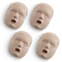 Replacement Faces for Prestan Child / Pediatric Manikins - 4 Pack - Medium Skin - RPP-CFACE-4-MS