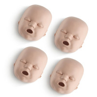 Replacement Faces for Prestan Infant / Baby Manikins - 4 Pack - Medium Skin - RPP-IFACE-4-MS