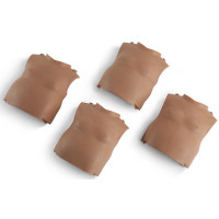 Torso skin replacements for the PRESTAN Professional Infant Manikin, 4-Pack, Dark Skin, RPP-ISKIN-4-DS