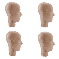 Prestan Adult Manikin Jaw Thrust Head Assembly - 4 Pack - Medium Skin - RPP-JTHEAD-4-MS