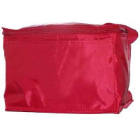 Red Vinyl Cooler Bag - ST22-Blank