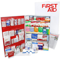 5 Shelf Industrial ANSI B+ First Aid Station, Pocketliner - 200 Person - URG-249B