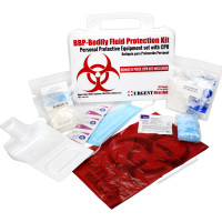 BBP / Bodily Fluid Protection Kit with Bonus 6 piece CPR kit for additional Rescuer Protection - URG-3650