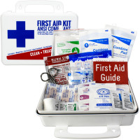 Bulk First Aid Kit, Plastic, 74 Pieces, ANSI A, 25 Person, URG-3681