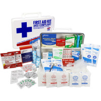Bulk First Aid Kit, Plastic, 198 Pieces, ANSI B, 50 Person, URG-3684