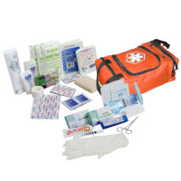 First Responder Kit / Jump Bag - 80 Pieces - Orange - URG-636841K