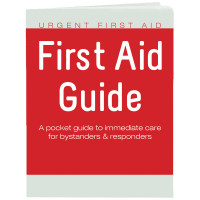 Urgent First Aid Guide with CPR & Automated External Defibrillator  - 52 Pages - URG-BK-48