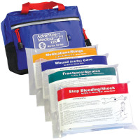 The Adventure Medical Marine 400 First Aid Kit has quick reference cards in each water-tight injury pack and s intended for coastal cruising on sailing vessels carrying up to six people