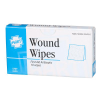 BZK Antiseptic Wipes, 10 wipes per box, 0430