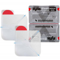 "Hyfin Vent Chest Seal, 6"" x 6"", Twin Pack, 10-0037"