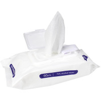 Alcohol Wipes, Large, 75% Alcohol, 60 Wipes Per Pack, 2176-60