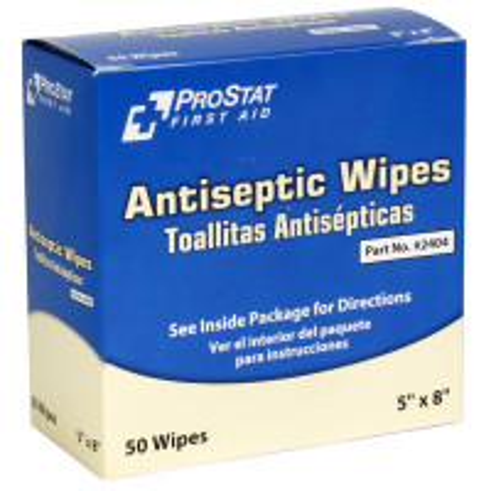 Antiseptic Wipes, 50 Per Box, 2404