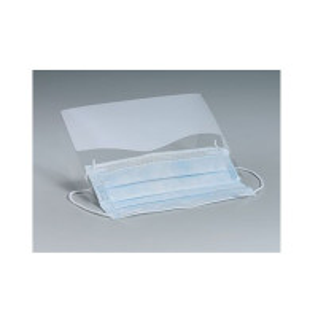Plastic Eye Shield w/ Ear Loop Mask - Clear - 366502K