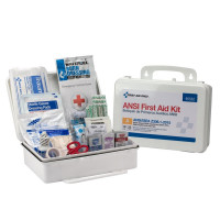 25 Person First Aid Kit, ANSI A,  Plastic Case - 90562