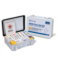 16 Unit First Aid Kit, ANSI A,  Metal Case - 90568