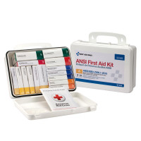 16 Unit First Aid Kit, ANSI A,  Plastic Case - 90569