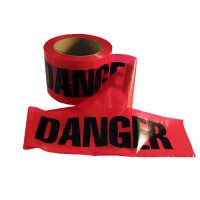 """Danger"" Caution Tape - 3 inch x 300' - Red - EE43"