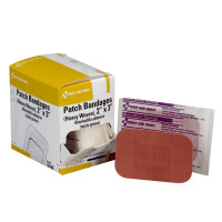 2 inch x 3 inch Patch Bandage, Heavy Woven - 25 Per Box - G160