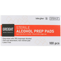 Alcohol Wipes, 100 Wipes Per Box, 2176