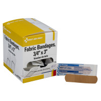 Adhesive Bandage, Heavy Woven Fabric 3/4 inch - 100 Per Box - H119