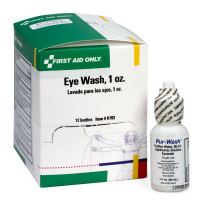 Eye Wash - 1 ounce - Plastic Bottle - 12 Per Box - H703