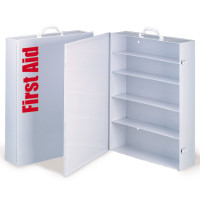 Empty Metal Industrial Cabinet Swing Out Door - 5 Shelf - M5038