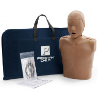 Prestan Child / Pediatric CPR Manikin w/ Monitor - Dark Skin - PP-CM-100M-DS