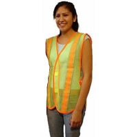 Safety Vest-Lime Green w/ Reflect Tape - SH55BL