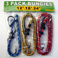 Bungee Cord - 3 Pack (12 inch, 18 inch, and 24 inch) - T222BG