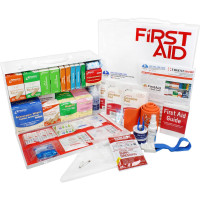 2 Shelf Industrial ANSI B+ First Aid Station, Pocketliner - 75 Person - URG-245B