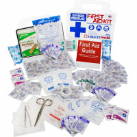 10 Person, 116 Piece Bulk Workplace First Aid Kit, Wall-Mountable and Portable Plastic Case with Gasket , URG-3620
