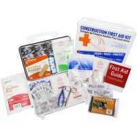 Bilingual OSHA Contractors First Aid Kit for Job Sites up to 25 People – Gasketed Plastic, 180 pieces, URG-3661