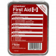 The Adventure First Aid, 0.5 oz Tin features handy on-label information