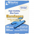 Knuckle High Visibility Blue Foam Bandages, Metal Detectable, 30 per box, 2382