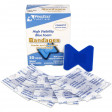 Fingertip High Visibility Blue Foam Bandages, Metal Detectable, 30 per box - 2401