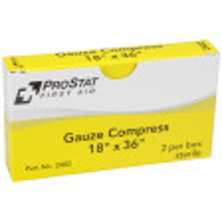 """18"""" x 36"""" Sterile Gauze Compress - 2 per Box, 0236"""