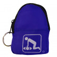 9 Pk Assorted Colors - CPR KeyChain BackPack - 911CPR-PACK
