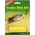 Snake Bite Kit Package displaying Two large high-suction cups enveloping One small high-suction cup for small surfaces, Easy-to-use lymph constrictor, Antiseptic swab, Scalpel, and Instructions