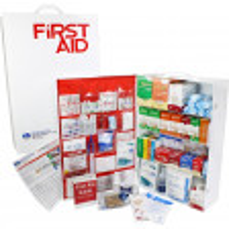 4 Shelf Industrial ANSI A+ First Aid Station, Pocketliner - 150 Person - URG-248L
