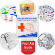 Bilingual OSHA Contractors First Aid Kit for Job Sites up to 50 People – Gasketed Plastic, 238 pieces, URG-3663