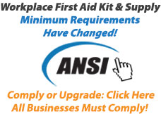 Learn about new ANSI Standard Minimum Requirements for Workplace First Aid Kits and Supplies and order ANSI Z308.1 2015 First Aid Kits