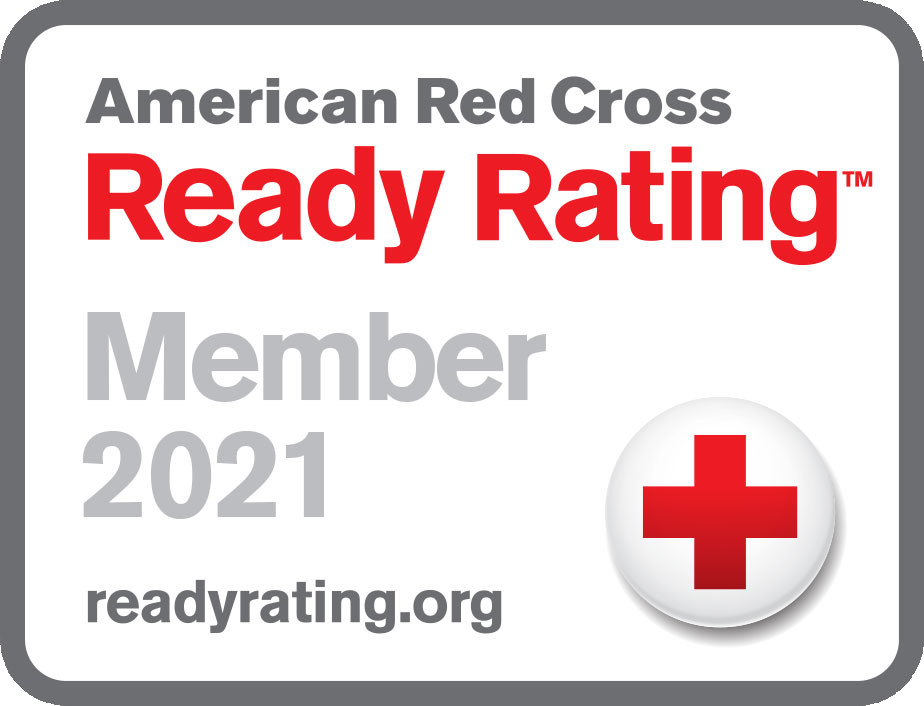 Graphic of American Red Cross Ready Rating 2021 Seal