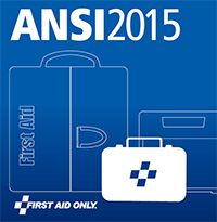 Graphical image of ANSI Z308.1-2015 First Aid First Aid Kit and Supply Requirements Catalog