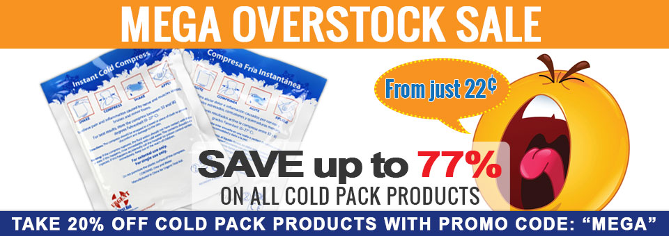 8d13213f70 Nobody ever has enough cold packs (never, ever, ever). Here's your chance  to stock up for pennies. Our warehouse is filled to the brim with overstock  of our ...