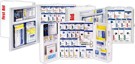Image of variety of smart compliance first aid cabinets