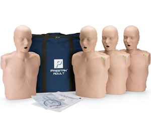 Image of Prestan adult family training CPR training kit and carrying bag