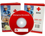 Image of survival guides and DVDs - learn about preparedness, sheltering in place, and survival