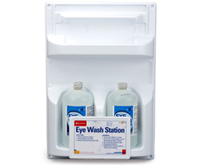 Graphic of double eye wash station
