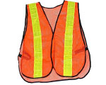 Image showing a bright and highlt visible safety vest with reflective strips